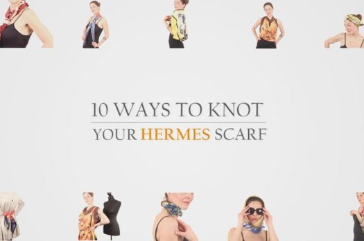 Fashion knots with Hermès Scarves