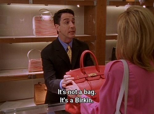 Samantha Jones with Her Birkin Bag in Sex and the City