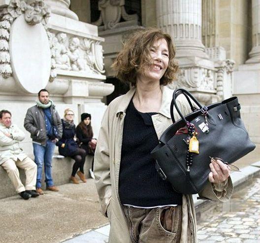 Jane Birkin with hers Hermès bag