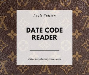 Louis Vuitton Datecode Reader